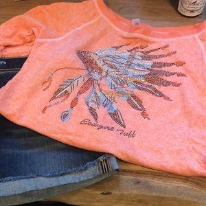 Sweaters - Cowgirl Tuff electric orange sweatshirt